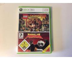 Xbox Spiele Indiana Jones + Kung Fu Panda
